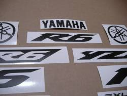 Yamaha YZF R6 stickers in custom satin black