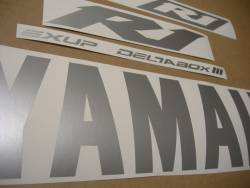 Yamaha YZF R1 decals in custom satin silver