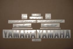 Satin silver grey logo decals for Yamaha R6