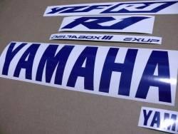 Medium blue logo decals for Yamaha R1