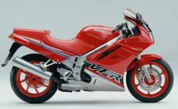 Honda VFR 750 1993 rc36 red model aftermarket stickers