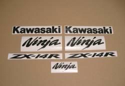 Kawasaki zx-14r 1400 custom carbon sticker kit