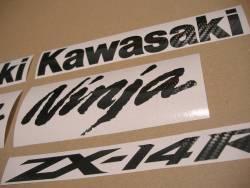 Kawasaki zx-14r 1400 custom carbon decals set