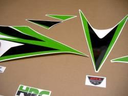 Honda CBR 1000 RR 2012 lime green custom decal set