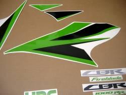 Stickers (lime green) for Honda Fireblade 2012 HRC
