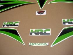 Honda CBR 1000 RR 2012 lime green custom stickers