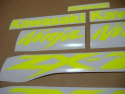 Kawasaki ZX7R ninja high visibility yellow stickers