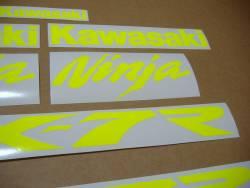 Kawasaki ZX7R ninja custom signal yellow sticker set