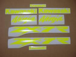 Decal logo (fluorescent yellow) for Kawasaki ZX-7R