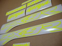 Kawasaki ZX9R 900 high visibility yellow decals
