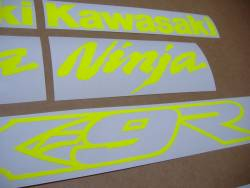 Stickers (signal yellow) for Kawasaki ZX-9R ninja