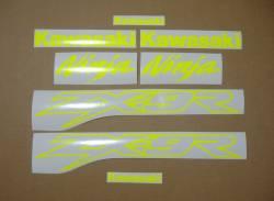 Kawasaki ZX9R 900 fluorescent yellow decals set