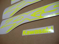 Decals (signal yellow) for Kawasaki ZX-9R ninja