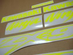 Kawasaki ZX9R 900 ninja neon yellow decal set