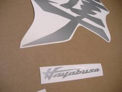 Suzuki Hayabusa 2021 new model M1 silver kanji decals