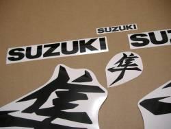 Suzuki Hayabusa 2021 new model M1 black kanji decals