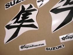 Suzuki Hayabusa 2021 new model M1 black kanji stickers