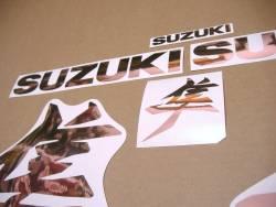 Suzuki Hayabusa 2021 new model M1 stickers in rose gold