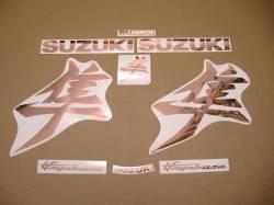 Rose gold chrome sticker set for Suzuki Hayabusa 2021 M1