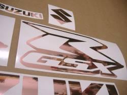 Rose gold color custom decals for Suzuki GSX-R 1000