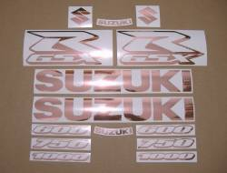 Rose gold color custom stickers for Suzuki GSXR 1000