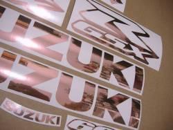 Rose gold logo decal set for Suzuki GSX-R 1000cc