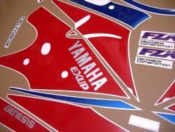 Yamaha FZR 1000 Exup 1993 genuine style decals