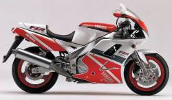 Graphics for Yamaha FZR 1000 1993 white/red model