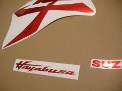 Suzuki Hayabusa 2021 M1 new model red chrome stickers
