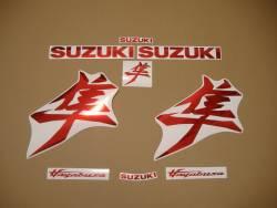 Suzuki Hayabusa 2021 new model mirror red decal kit