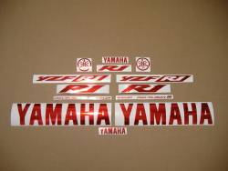 Yamaha YZF R1 stickers in custom chrome red color