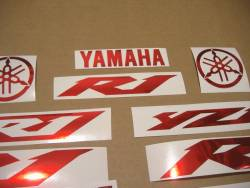 Chrome red color logo stickers for Yamaha R1