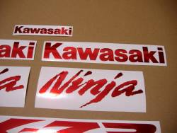 Chrome red stickers for Kawasaki ZX-7R 750