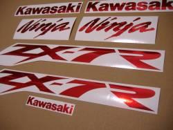 Kawasaki ZX7R ninja chrome red decals logo kit
