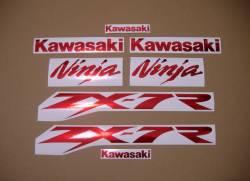Kawasaki ZX7R ninja chrome red sticker logo set
