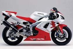 Yamaha YZF R1 1998 RN01 white full decal set