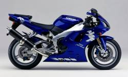 Yamaha R1 1998 RN01 blue labels graphics