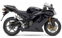 Kawasaki ZX6R 2006 Ninja black full decals kit