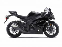 Kawasaki zx-6r 2009 2010 Ninja black graphics set