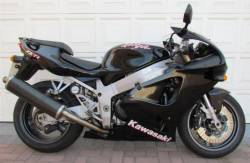 Kawasaki ZX 7R 1999 black complete sticker kit
