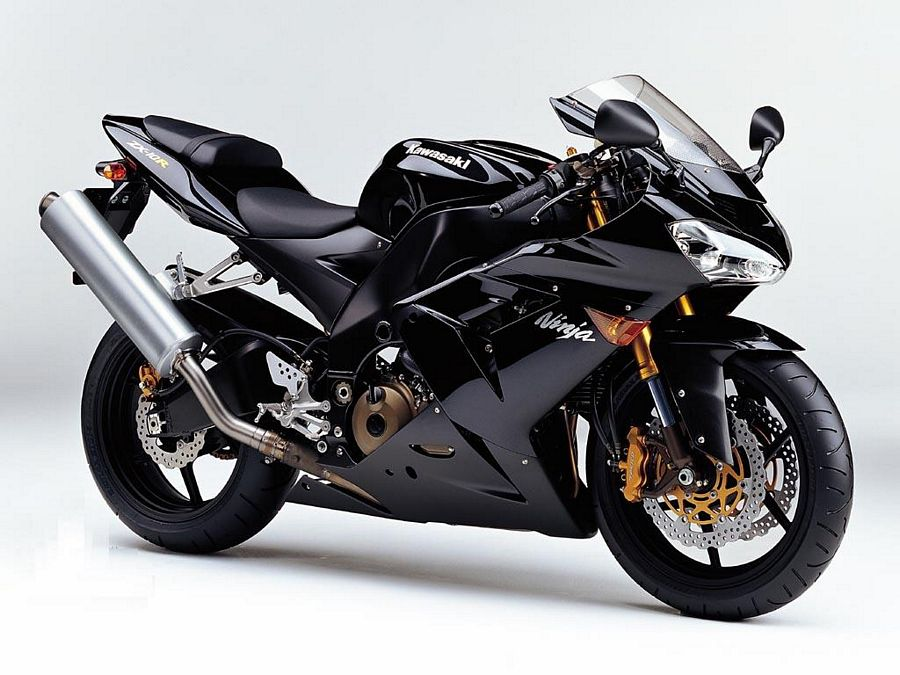 Kawasaki Zx 10r Ninja 2005 Decals Set Full Kit Black Version