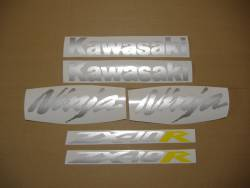 Kawasaki ZX-10R 2005 Ninja black decals kit