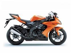 Kawasaki ZX10R 2008 Ninja orange full decals kit