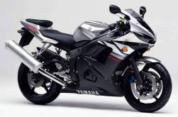 Yamaha R6 2003 RJ09 silver adhesives set