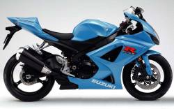 Suzuki 1000 2008 blue stickers kit
