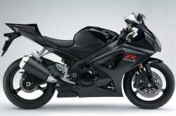 Suzuki GSX-R 1000 2008 black decals kit