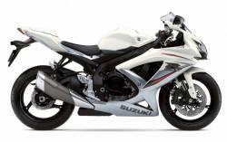 Suzuki gsx-r 750 K9 white silver full sticker set