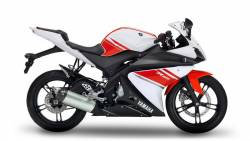 Yamaha R125 2008 white decals kit