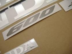 Honda CBR 600RR 2007 black stickers kit