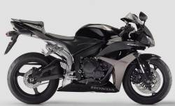 Honda CBR 600RR 2007 black complete sticker kit